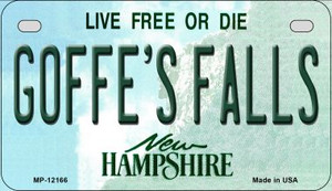 Goffes Falls New Hampshire Wholesale Novelty Metal Motorcycle Plate MP-12166