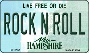 Rock N Roll New Hampshire Wholesale Novelty Metal Magnet M-12167