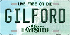 Gilford New Hampshire Wholesale Novelty Metal License Plate LP-12168