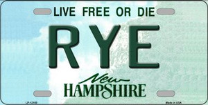 Rye New Hampshire Wholesale Novelty Metal License Plate LP-12169