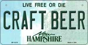 Craft Beer New Hampshire Wholesale Novelty Metal Bicycle Plate BP-12170