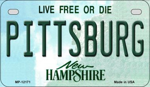 Pittsburg New Hampshire Wholesale Novelty Metal Motorcycle Plate MP-12171