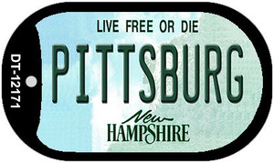 Pittsburg New Hampshire Wholesale Novelty Metal Dog Tag Necklace DT-12171