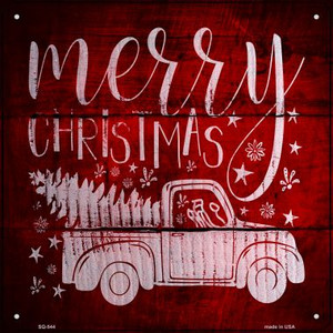 Merry Christmas Wholesale Novelty Metal Square Sign SQ-544