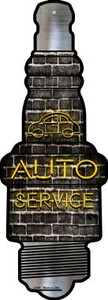 Auto Service Wholesale Novelty Metal Spark Plug Sign J-049