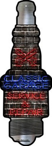 Classic Garage Wholesale Novelty Metal Spark Plug Sign J-050