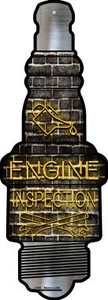 Engine Inspection Wholesale Novelty Metal Spark Plug Sign J-059
