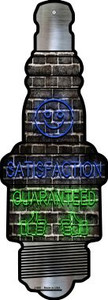 Satisfaction Guaranteed Wholesale Novelty Metal Spark Plug Sign J-060