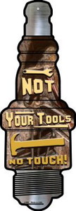 Not Your Tools Wholesale Novelty Metal Spark Plug Sign J-066