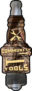 Community Tools Wholesale Novelty Metal Spark Plug Sign J-067
