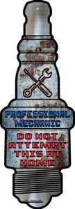 Professional Mechanic Wholesale Novelty Metal Spark Plug Sign J-078