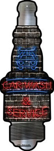 Car Wash and Service Wholesale Novelty Metal Spark Plug Sign J-082