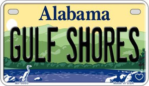 Gulf Shores Alabama Wholesale Novelty Metal Motorcycle Plate MP-9993