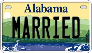 Married Alabama Wholesale Novelty Metal Motorcycle Plate MP-10022