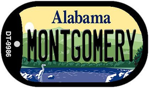 Montgomery Alabama Wholesale Novelty Metal Dog Tag Necklace DT-9986