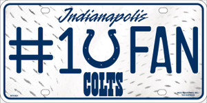 Indianapolis Colts Fan Wholesale Metal Novelty License Plate