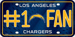 Los Angeles Chargers Fan Wholesale Metal Novelty License Plate LP-756