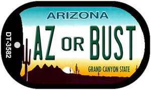 AZ or Bust Arizona Wholesale Novelty Metal Dog Tag Necklace DT-3582