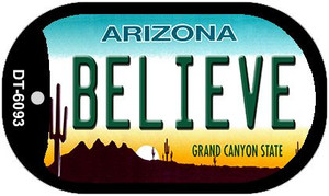 Believe Arizona Wholesale Novelty Metal Dog Tag Necklace DT-6093