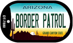 Border Patrol Arizona Wholesale Novelty Metal Dog Tag Necklace DT-7880