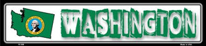 Washington State Outline Wholesale Novelty Metal Vanity Small Street Signs K-346