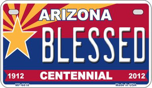Blessed Arizona Centennial Wholesale Novelty Metal Motorcycle Plate MP-6818