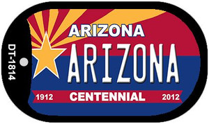 Arizona Centennial Wholesale Novelty Metal Dog Tag Necklace DT-1814