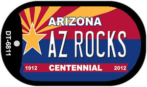 AZ Rocks Arizona Centennial Wholesale Novelty Metal Dog Tag Necklace DT-6811