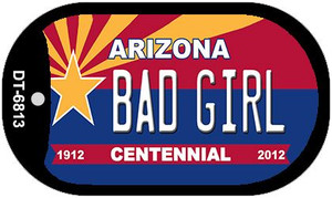 Bad Girl Arizona Centennial Wholesale Novelty Metal Dog Tag Necklace DT-6813