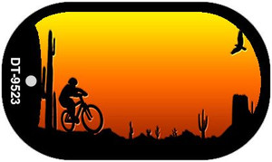 Bike Sunset Arizona Western Wholesale Novelty Metal Dog Tag Necklace DT-9523
