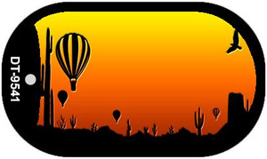 Balloon Sunset Arizona Western Wholesale Novelty Metal Dog Tag Necklace DT-9541