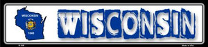 Wisconsin State Outline Wholesale Novelty Metal Vanity Small Street Signs K-348