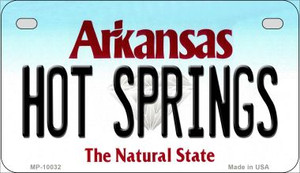 Hot Springs Arkansas Wholesale Novelty Metal Motorcycle Plate MP-10032