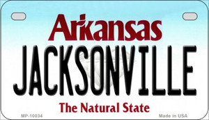 Jacksonville Arkansas Wholesale Novelty Metal Motorcycle Plate MP-10034