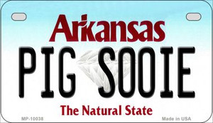 Pig Sooie Arkansas Wholesale Novelty Metal Motorcycle Plate MP-10038