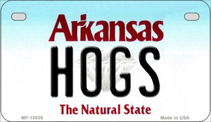 Hogs Arkansas Wholesale Novelty Metal Motorcycle Plate MP-10039