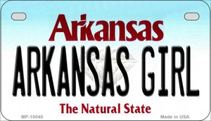 Arkansas Girl Wholesale Novelty Metal Motorcycle Plate MP-10040