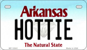 Hottie Arkansas Wholesale Novelty Metal Motorcycle Plate MP-10041