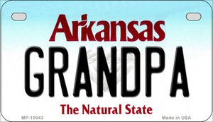 Grandpa Arkansas Wholesale Novelty Metal Motorcycle Plate MP-10043