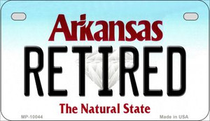 Retired Arkansas Wholesale Novelty Metal Motorcycle Plate MP-10044
