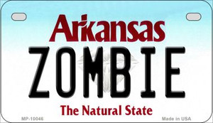 Zombie Arkansas Wholesale Novelty Metal Motorcycle Plate MP-10046