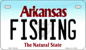 Fishing Arkansas Wholesale Novelty Metal Motorcycle Plate MP-10049