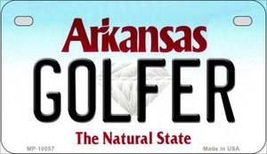 Golfer Arkansas Wholesale Novelty Metal Motorcycle Plate MP-10057