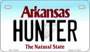 Hunter Arkansas Wholesale Novelty Metal Motorcycle Plate
