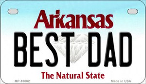 Best Dad Arkansas Wholesale Novelty Metal Motorcycle Plate MP-10062