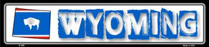 Wyoming State Outline Wholesale Novelty Metal Vanity Small Street Signs K-349