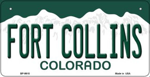 Fort Collins Colorado Wholesale Novelty Metal Bicycle Plate BP-9915
