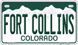 Fort Collins Colorado Wholesale Novelty Metal Motorcycle Plate MP-9915