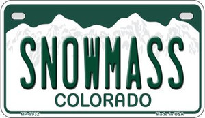 Snowmass Colorado Wholesale Novelty Metal Motorcycle Plate MP-9932
