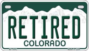 Retired Colorado Wholesale Novelty Metal Motorcycle Plate MP-9943